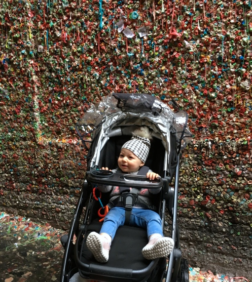 Travel Guide Seattle Blog Happy Go Bliss by Andrea Bliss Veale sight seeing Gum Wall Baby