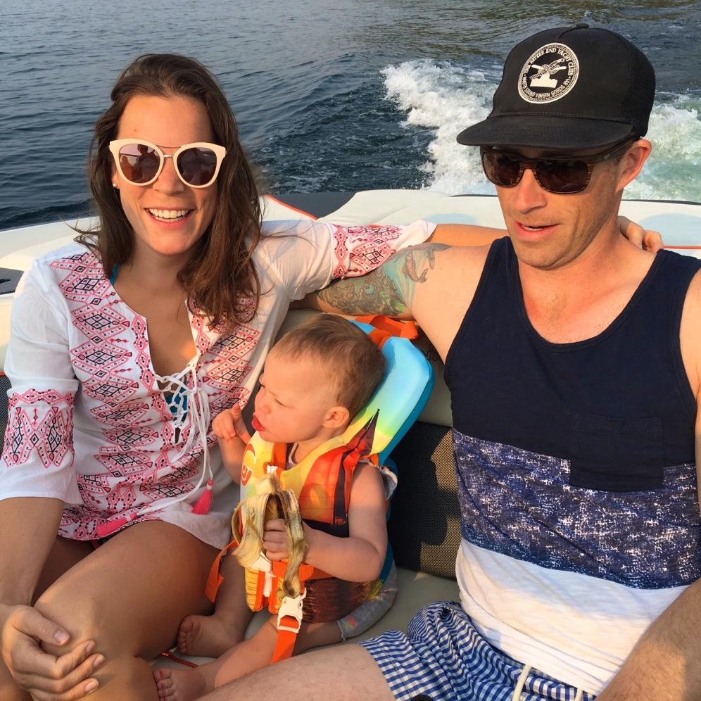 family vacation, lake life, boating