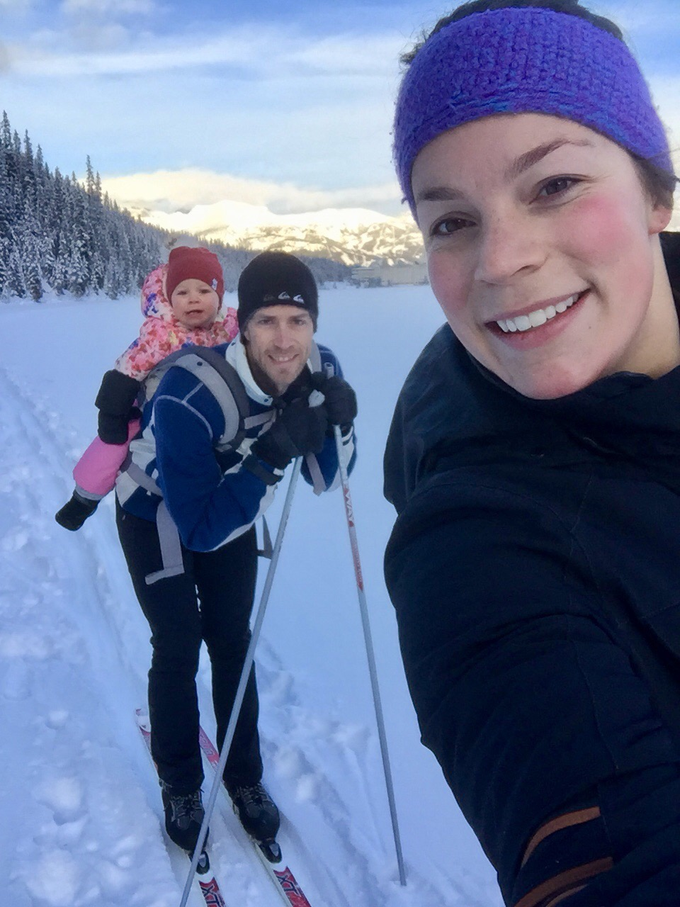 Cross country skiing Lake Louise