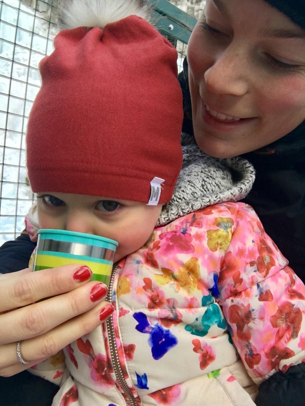 Hot chocolate break baby